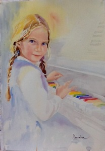 Lily at the Piano by Pat Long