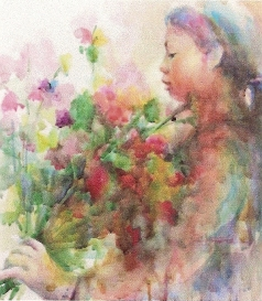 Alicia Farris Girl with Flowers0001