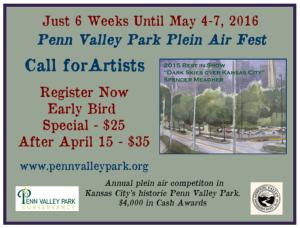Penn Valley Park Plein Air Fest Flyer