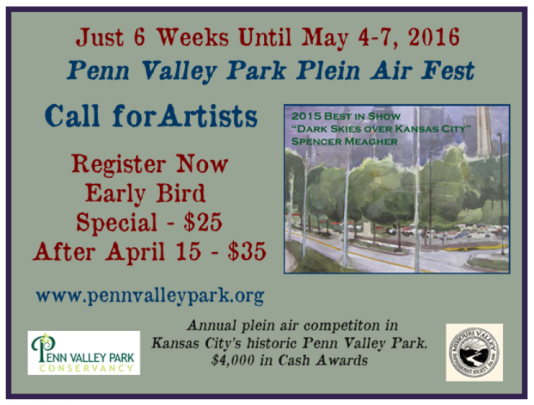Penn Valley Park Plein Air Fest Flyer