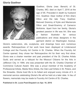 Gloria Goellner Obit April 2016