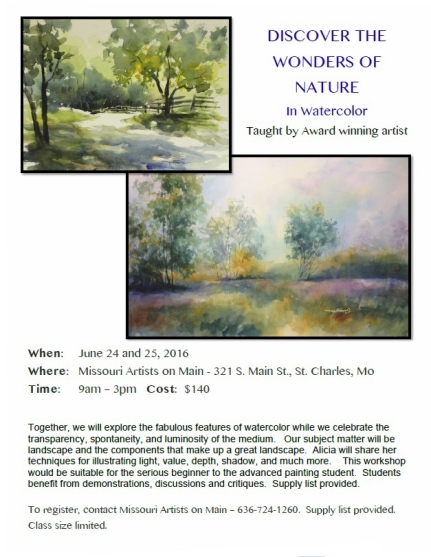 Alicia Farris Discover the Wonders of Nature Class Jun 2016