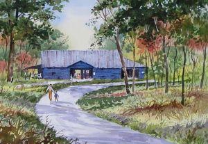Blue Barn 2 by David P. Anderson
