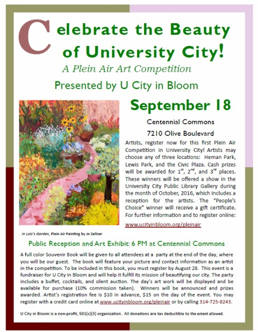 U City Plein Air Art Competition Post 160615