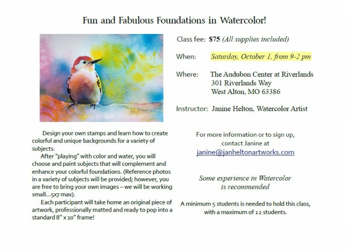 Janine Helton's Oct 2016 Workshop